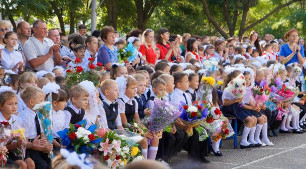 Традиционная линейка, посвященная началу нового учебного года в СОШ №13