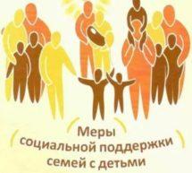 ПАМЯТКА о мерах социальной поддержки семей, имеющих детей!