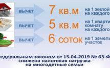 Управление социальной защиты населения  в Брюховецком районе доводит до сведения о налоговых льготах для многодетных семей